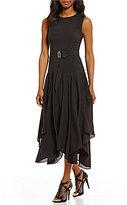 Calvin Klein A-line Handkerchief Hem Dress