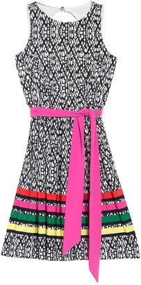 Eliza J Colorblock Stripe Sleeveless Fit & Flare Dress