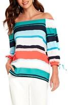 Wallis Women's Painted Stripe Off The Shoulder Top