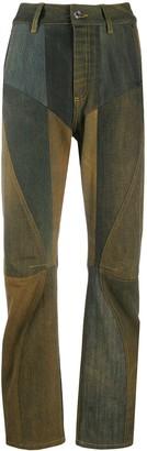 Marine Serre High-Rise Patchwork Trousers