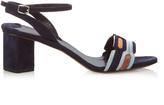Peter Pilotto Geometric block-heel suede sandals