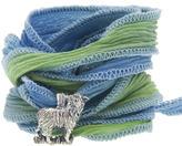 Catherine Michiels Le Petit Maurice Silver Charm & Silk Bracelet Wrap