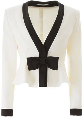 Alessandra Rich Short Jacket With Bow