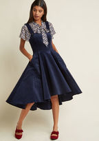 ModCloth Corduroy Charisma A-Line Midi Dress in Navy in S