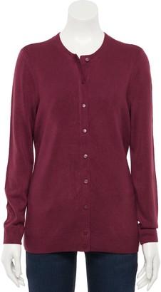 Croft & Barrow Women's Essential Button-Front Cardigan