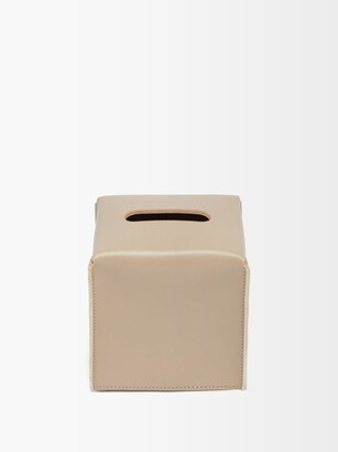 Rabitti 1969 - Amsterdam Leather Tissue Box - Light Beige