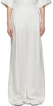 Joseph Off-White Chintz Linen Benton Trousers