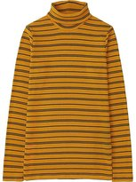 Uniqlo Women Ribbed Striped Turtleneck Long Sleeve T