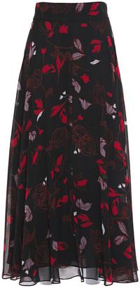Diane von Furstenberg Tonnah Floral-print Georgette Maxi Skirt