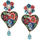 Dolce & Gabbana Floral Heart Earrings