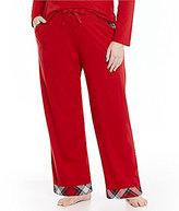 Sleep Sense Plus Flannel-Trimmed Jersey Sleep Pants