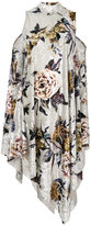 MM6 MAISON MARGIELA floral embroidered shift dress - women - Polyester/Spandex/Elastane - S