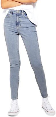 Topshop Jamie Bleach Moto Jeans