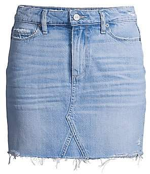 Paige Women's Alethea Mid-Rise Distressed Jean Skirt