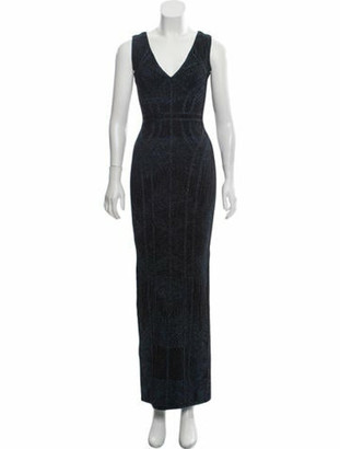 Herve Leger Bandage Evening Dress w/ Tags Metallic