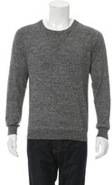 Sandro Speckled Knit Crew Neck Sweater