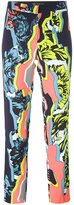 Versace 'Jagged Baroque' cropped trouser