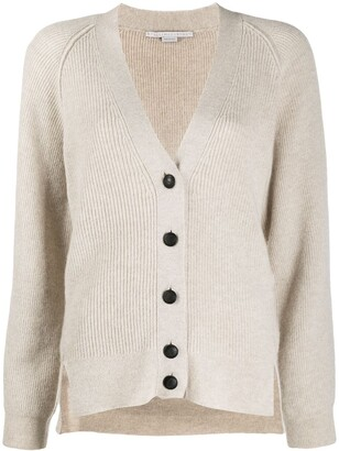 Stella McCartney Raglan-Sleeve Ribbed Cardigan