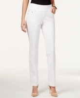 Jag Petite Peri Pull-On Straight-Leg Jeans