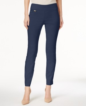 Alfani Petite Curvy Tummy-Control Pull-On Skinny Pants, Created for Macy's