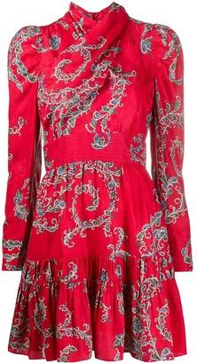 Sandro Floral Shift Mini Dress