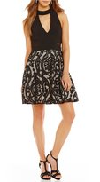 Xscape Evenings Key Hole Front Fit And Flare Dress