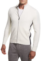 Zegna Sport Super-Soft Techmerino Full-Zip Sweater