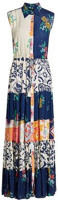 Carolina K. Natalic Print Open-Front Dress
