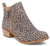 Lucky Brand Basel Leopard Print Suede Zip Booties