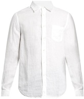 120% Lino Point-collar Linen Shirt
