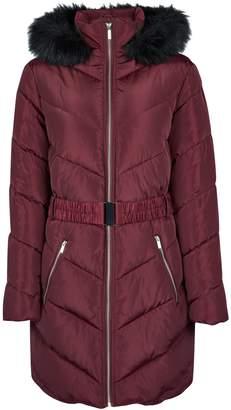 Dorothy Perkins Womens Burgundy Long Sleeve Padded Jacket