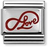 Nomination Silver & Red Enamel Limitless Love Classic Charm 330206/05