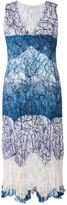 House of Fraser Chesca Plus Size Scribble Print Dress With Lace Trim