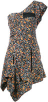 Isabel Marant one shoulder foliage print dress - women - Silk/Cotton - 36