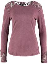 Khujo EVENS Long sleeved top washedplumewine