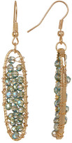 Joe Fresh Beaded Oval Drop Earrings