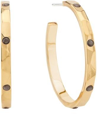 Anna Beck Hammered Stone 32mm Hoop Earrings