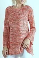 Hem & Thread Coral Crochet Sweater