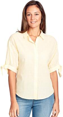 Gloria Vanderbilt Women's Valentina Tie Elbow Sleeve Shirt