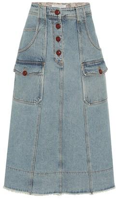 Philosophy di Lorenzo Serafini High-rise denim mini skirt