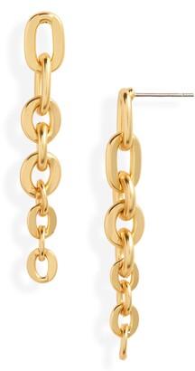 Karine Sultan Cable Chain Linear Earrings