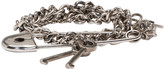 Alexander McQueen Silver Three Chain Pin Bracelet