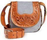 Patricia Nash Striped Felix Saddle Bag