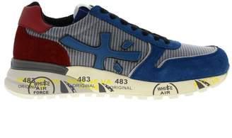 Premiata Sneakers Mick Sneakers In Nylon And Suede With All-over Sole Multi-print