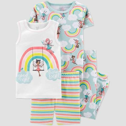 Carter's Just One You made by carter Toddler Girls' 4pc Rainbow Fairies Pajama Set - Just One You® made by Blue