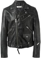 Golden Goose Deluxe Brand Golden biker jacket - men - Leather/Polyester/Viscose - S