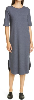 Eileen Fisher Rib Knit T-Shirt Dress