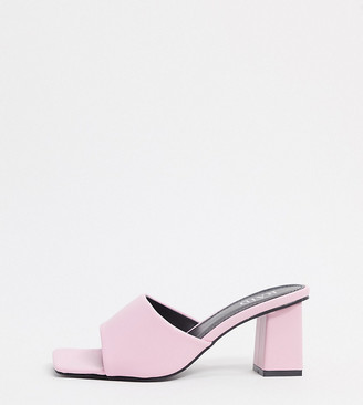Raid Wide Fit Pia mules in pink