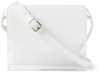 Banana Republic Croc Lucite Crossbody