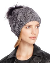 Echo Beanie with Asiatic Raccoon Fur Pom-Pom - 100% Bloomingdale's Exclusive